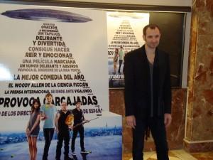Julián Villagrán en la presentación de Extraterrestre