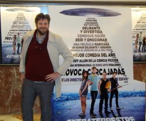 Raúl Cimas en la presentación de Extraterrestre