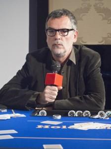 Eduard Cortés en la presentación de The Pelayos