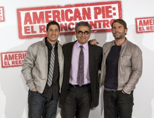 Eugene Levy,Jason Biggs, y Seann William Scott