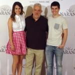 Blanca Suárez, Imanol Uribe, e Iban Garate en la presentación de Miel de naranjas