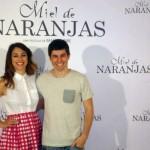 Blanca Suárez e Iban Garate en la presentación de Miel de naranjas
