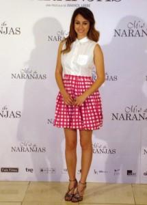 Blanca Suárez en la presentación de Miel de naranjas