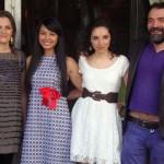 Isabel de Ocampo, Cindy Díaz, Ari Saavedra y Chema de La peña en la presentación de Evelyn