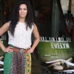 Guadalupe Lancho en la presentación de Evelyn
