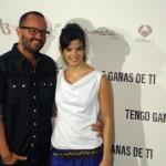 Fernando González Molina y Clara Lago en la presentación de Tengo ganas de ti