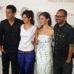 Mario Casas, Clara Lago, María Valverde, y Fernando González Molina en la presentación de Tengo ganas de ti