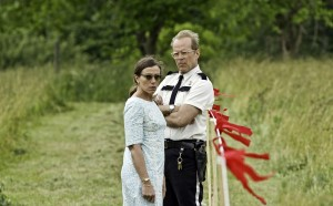 Frances McDormand y Bruce Willis en Moonrise Kingdom