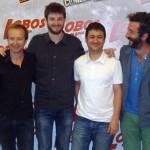 Cote Soler, Gorka Otxoa, Secun de la Rosa, y Luis Zahera en la presentación de Lobos de Arga