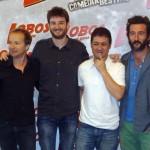 Cote Soler, Gorka Otxoa, Secun de la Rosa, y Luis Zahera en la presentación de Lobos de Arga (2)