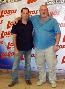 Tomás Cimadevilla y Juan Martínez Moreno en la presentación de Lobos de Arga