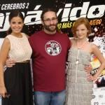 Marta Torné, Carlos Therón y Carolina Bona en la presentación de Impávido
