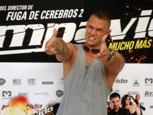 Nacho Vidal en la presentación de Impávido