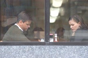 Matt Damon y Anna Paquin en Margaret