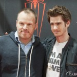 Marc Webb y Andrew Gardfield en la presentación de The amazing Spiderman