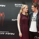Emma Stone y Andrew Gardfield en la presentación de The amazing Spiderman