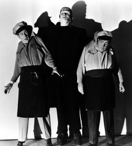 Abbott, Costello, y Frankenstien en Abbot y Costello contra los fantasmas
