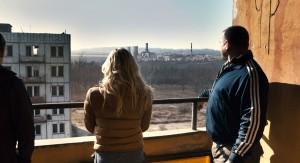 Olivia Dudley y Dimitri Diatchenko en Atrapados en Chernobyl