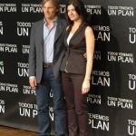Viggo Mortensen y Soledad Villamil en la presentación de Todos tenemos un plan