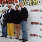 Chus Lampreave, Jean Rochefort, Aida Folch, y Fernando Trueba en la presentación de El artista y la modelo