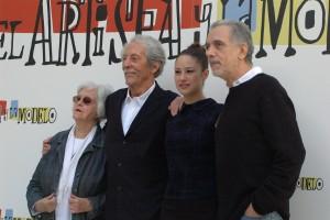 Chus Lampreave, Jean Rochefort, Aida Folch, y Fernando Trueba en la presentación de El artista y la modelo (2)