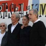 Chus Lampreave, Jean Rochefort, Aida Folch, y Fernando Trueba en la presentación de El artista y la modelo (3)