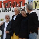 Chus Lampreave, Jean Rochefort, Aida Folch, y Fernando Trueba en la presentación de El artista y la modelo (4)