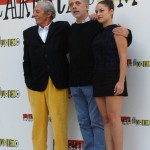 Jean Rochefort, Aida Folch, y Fernando Trueba en la presentación de El artista y la modelo