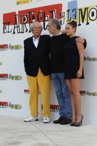 Jean Rochefort, Aida Folch, y Fernando Trueba en la presentación de El artista y la modelo (2)