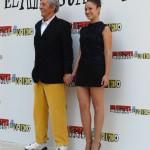 Jean Rochefort y Aida Folch en la presentación de El artista y la modelo