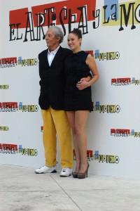 Jean Rochefort y Aida Folch en la presentación de El artista y la modelo (2)