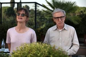 Woody Allen y Judy Davis en A Roma con amor