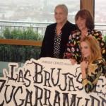 Terele Pavez, Camen Maura, y Carolina Bang en la presentación del inicio de rodaje de Las brujas de Zugarramurdi