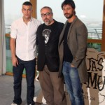 Mario Casas, Alex de la Iglesia, y Hugo Silva en la presentación del inicio de rodaje de Las brujas de Zugarramurdi