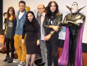 Clara Lago, Dani Martinez, Alaska, Santiago Segura, y Mario Vaquerizo en la presentación de Hotel Transilvania