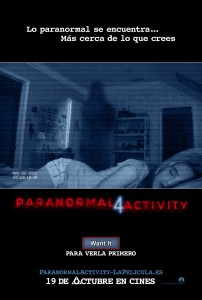 Paranormal Activity 4 - Teaser poster