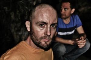 Marco Ortíz en el rodaje de La cueva (2)