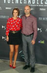 Paula Echevarría y Joaquín Perles en la presentación de Vulnerables