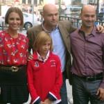 Paula Echevarría, Álvaro Daguerre, Miguel Cruz, y Joaquín Perles en la presentación de Vulnerables (2)