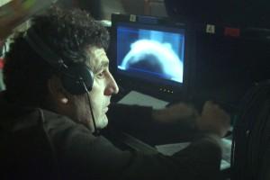 Daniel Calpasoro en el rodaje de Combustión