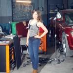 Adriana Ugarte en el rodaje de Combustión (2)