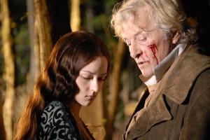 Marta Gastini y Rutger Hauer en Dracula 3D