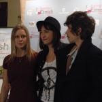 Manuela Vellés, Ana Rodríguez Rosell, y Óscar Jaenada en la presentación de Buscando a Eimish (2)