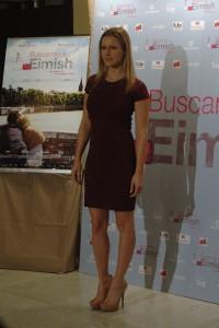 Manuela Vellés en la presentación de Buscando a Eimish