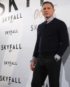 Daniel Craig en la presentación de Skyfall