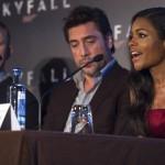 Daniel Craig, Javier Bardem, y Naomie Harris en la presentación de Skyfall