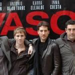 Karra Elejalde, Bernabé Fernández, Alberto Ammann y Daniel Calparsoro en la presentación de Invasor