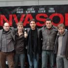 Karra Elejalde, Bernabé Fernández, Alberto Ammann, Daniel Calparsoro y Antonio de la Torre en la presentación de Invasor