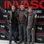 Alberto Ammann, Daniel Calparsoro y Antonio de la Torre en la presentación de Invasor (2)