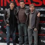 Alberto Ammann, Daniel Calparsoro y Antonio de la Torre en la presentación de Invasor